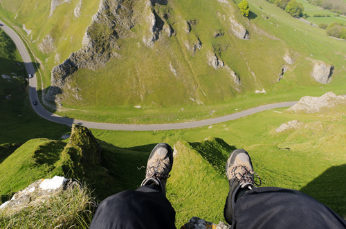 Looking Out over Winnats Pass